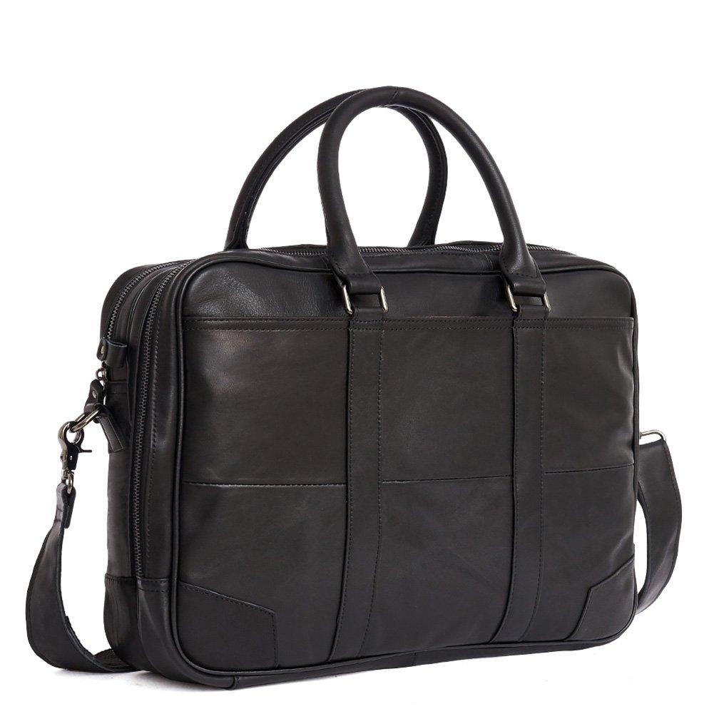 Acecle Men's Briefcase 15.6 Inch Laptop Cowhide Soft Natural Leather Stylish Compact Lightweight Slim Business Handbag Shoulder Bag