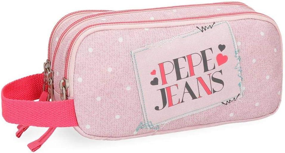 Pepe Jeans Olaia Neceser de Viaje, 22 cm, 1.98 litros, Rosa: Amazon.es: Equipaje