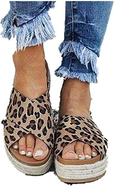 Cenglings Women's Leopard Print Sandals
