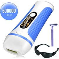 IPL Laser Facial Hair Removal for Women -500,000 Flashes Painless Permanent Hair Remover