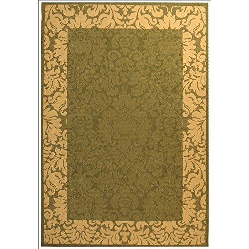 - Safavieh Courtyard Collection CY2727-1E06 Olive and Natural Indoor/ Outdoor Area Rug (8' x 11')