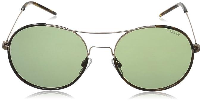 Polaroid Unisex-Erwachsene Sonnenbrille Pld 1021/S RC Ddb, Gold (Gold Copper/Green Pz), 55