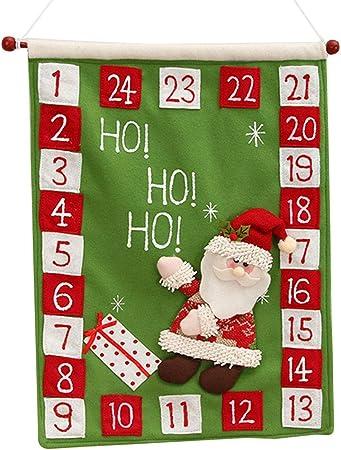 jiheousty 2021 Calendario dell'Avvento di Natale Appeso a Parete
