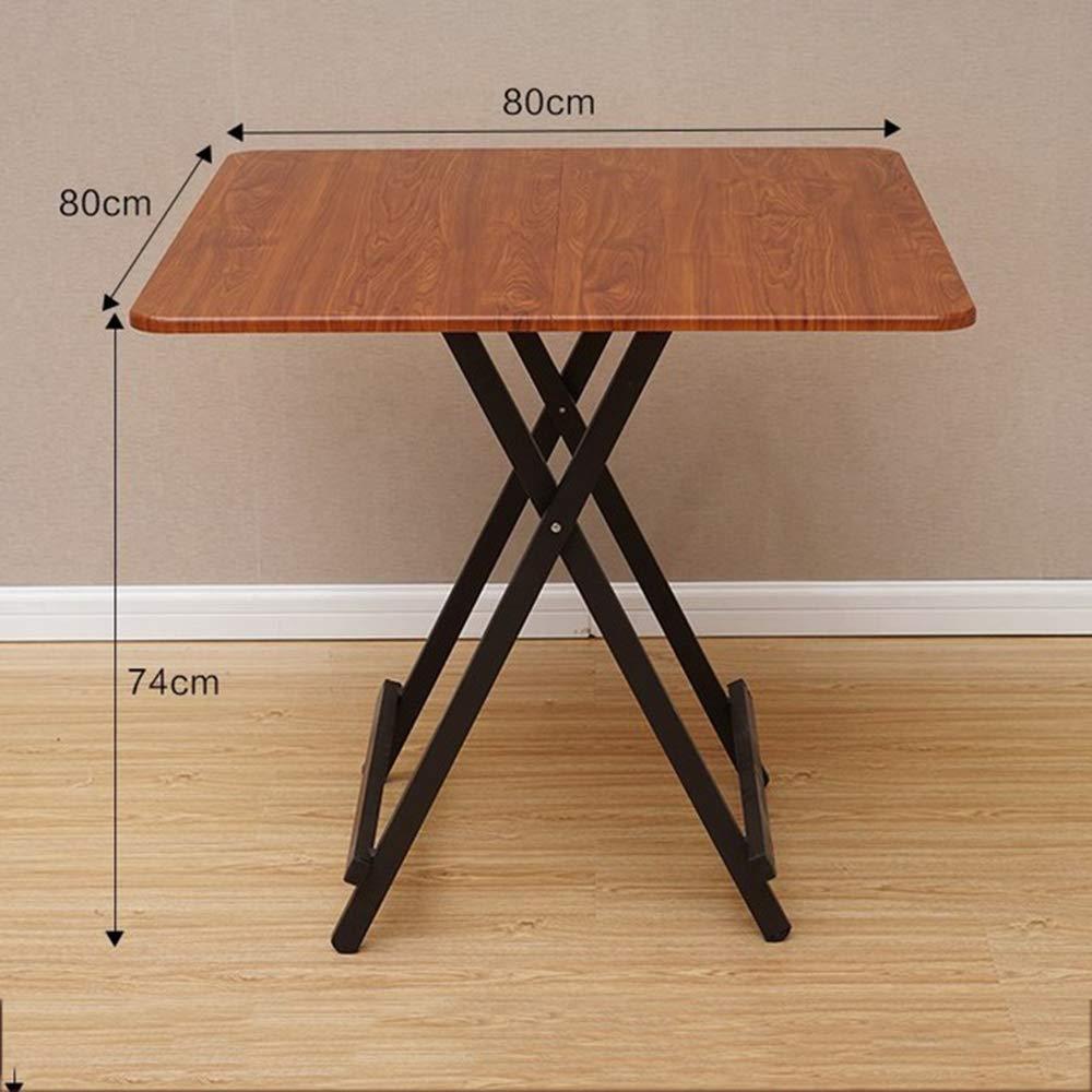 55cm WYZBD Einfacher Klapptisch Mini Kleiner Haushalt tragbare verstellbare Tische,A,60 60