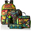 Nickelodeon Boys' Teenage Mutant Ninja Turtles 5pc Backpack Set