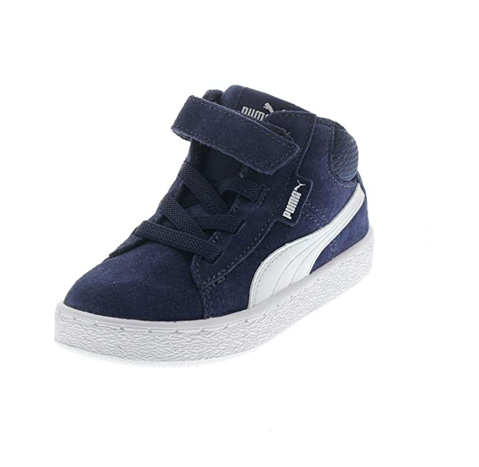 Puma Unisex Kid s 1948 Mid V Inf Peacoat White Sneakers  Buy Online at Low  Prices in India - Amazon.in 01506125c