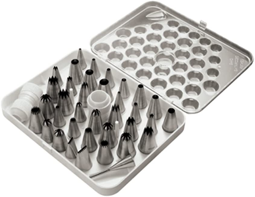 Paderno World Cuisine Set of 38 Stainless Steel Pastry Tips