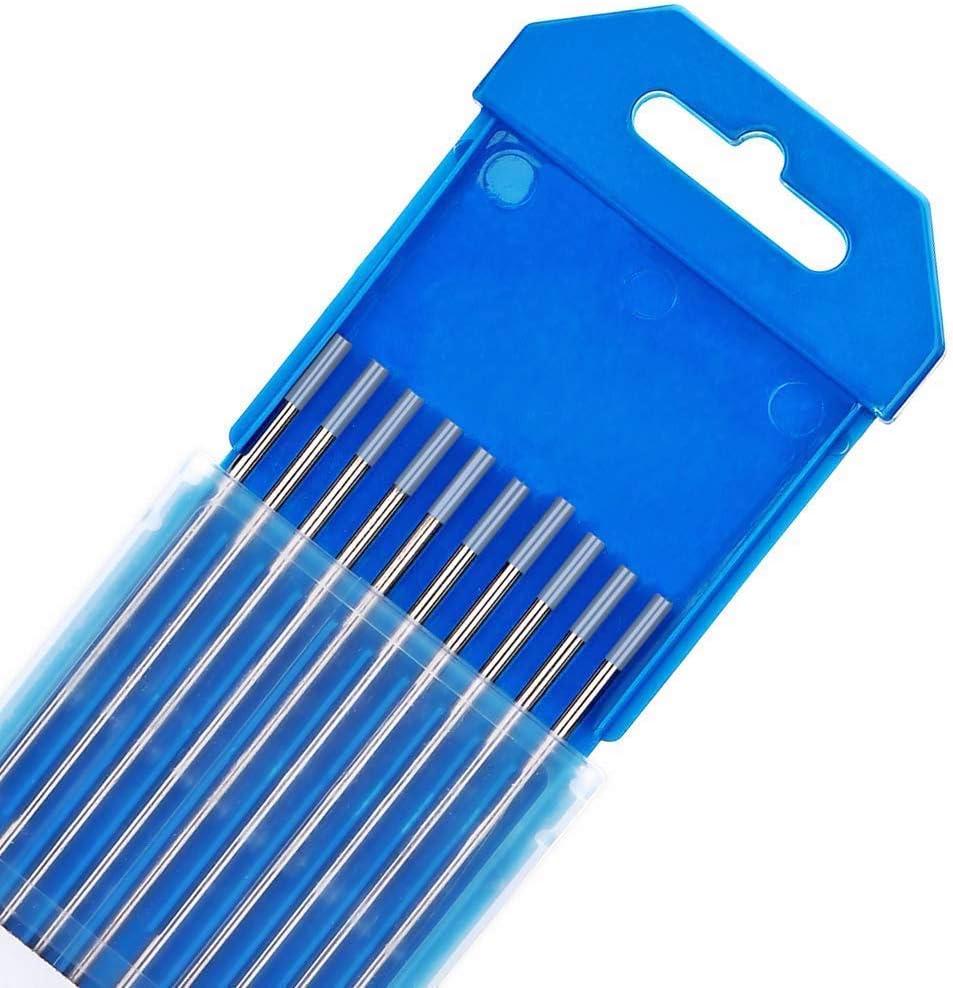 3,2 mm x 175 mm de 10 pi/èces par paquet 2/% de C/érium Gris TEN-HIGH /Électrodes en Tungst/ène TIG WC20