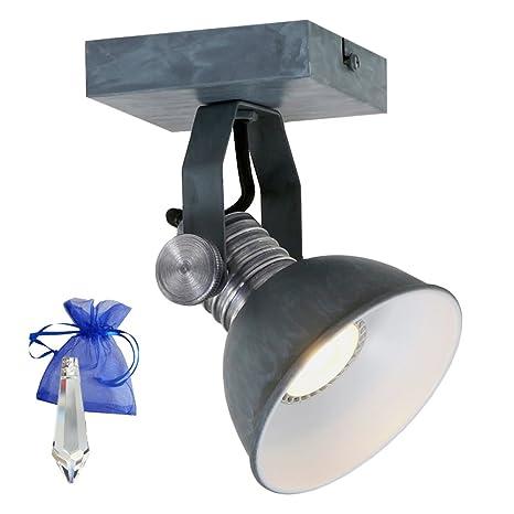 Pared/Techo Spot Brooklyn GU10 LED 7 W Gris como - Lámpara ...