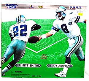 "1997 NFL Starting Lineup 12"" Emmitt Smith & Troy Aikman Box Set"