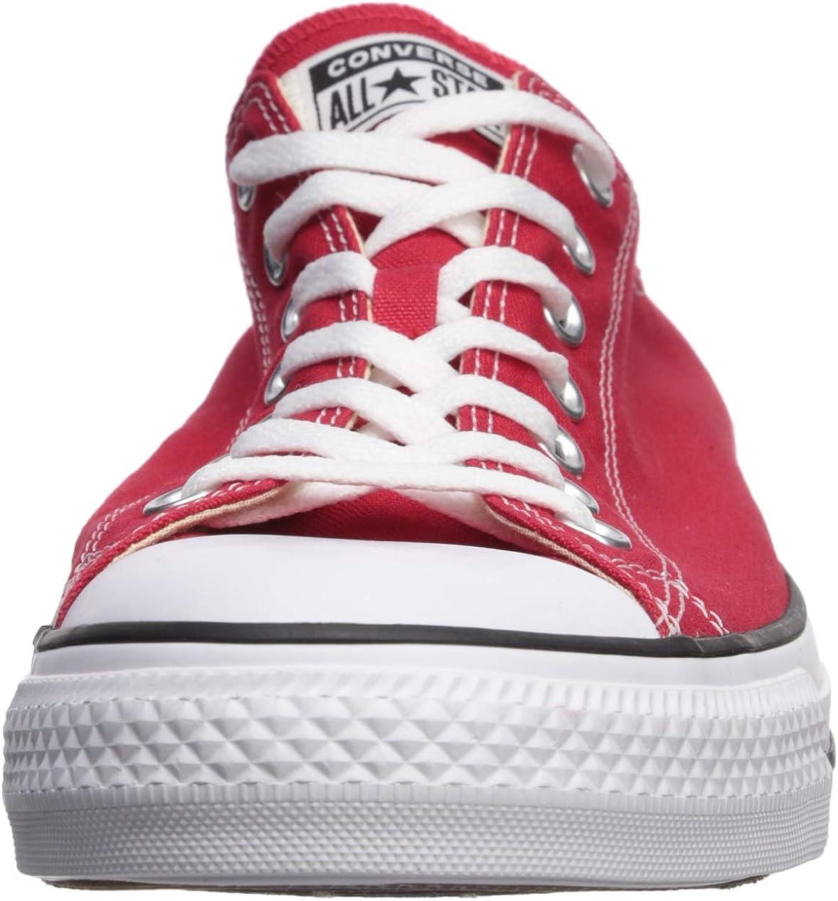 Converse Chuck Taylor All Star Ox, Baskets Mode Mixte Enfant Rouge