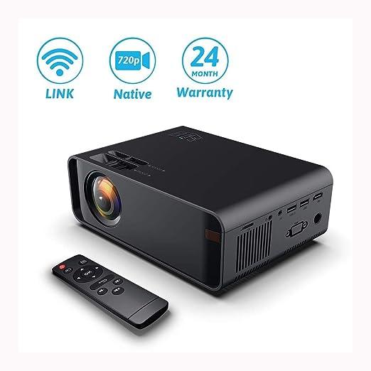 Knoijijuo 8000 lúmenes Mini proyector es Compatible con Wi-Fi de ...