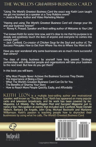 The worlds greatest business card share your story and skyrocket the worlds greatest business card share your story and skyrocket your success keith leon 9781945446337 amazon books colourmoves