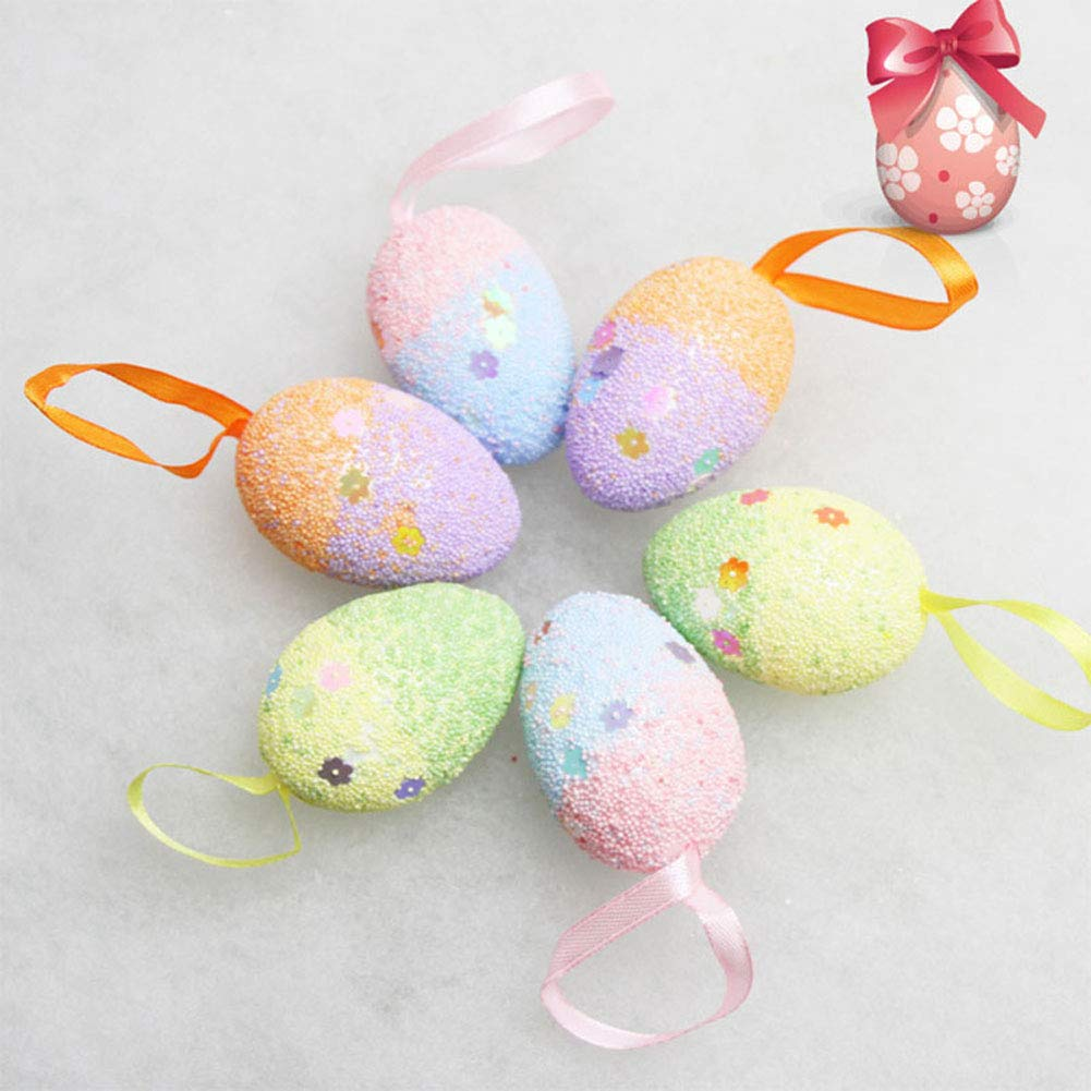 40 Pieces White Easter Eggs Styrofoam Eggs Craft Projects Foam Egg for Easter Eggs Decoration 4 Sizes