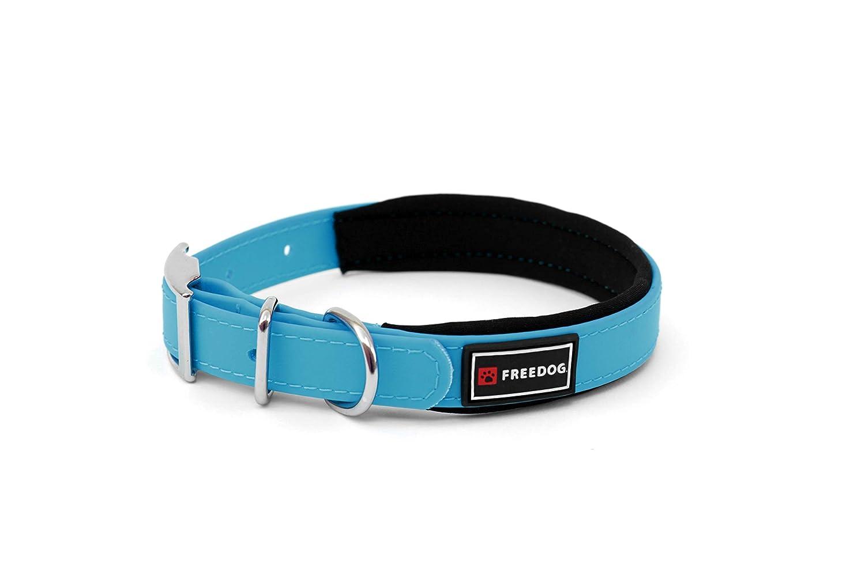 Freedog Collar Perro Ergo PVC con Acolchado Neopreno 15x35cm (Azul ...