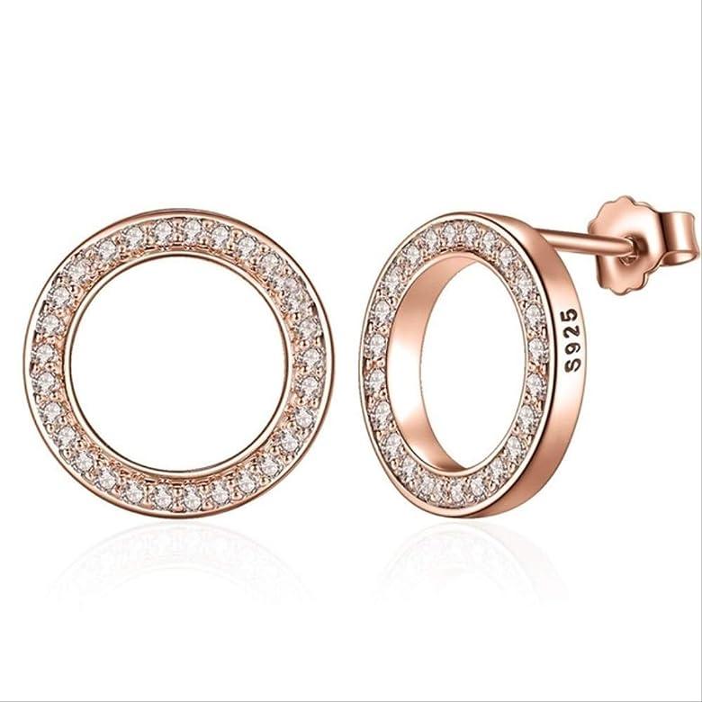 Pendiente DLYM Hot Fashion Sterling Silver Lucky Forever Round Earrings Ladies Auténtico Regalo de Joyería Original España XCHS484: Amazon.es: Joyería