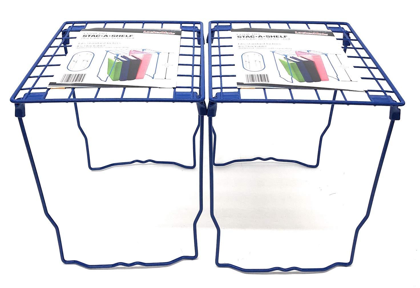 2-Pack, Blue Lockermate Stac-a-Shelf 12 Locker Shelf