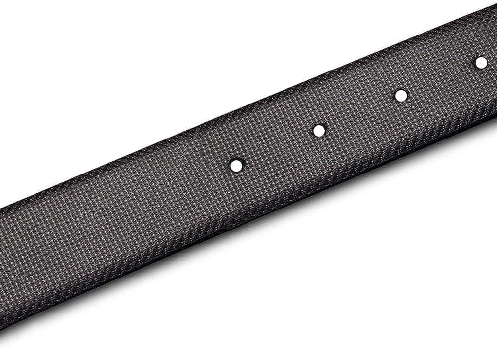 Strap Only MAKEN 3.3cm 1.3 Wide Premium Genuine Leather Black Belt Strap for men
