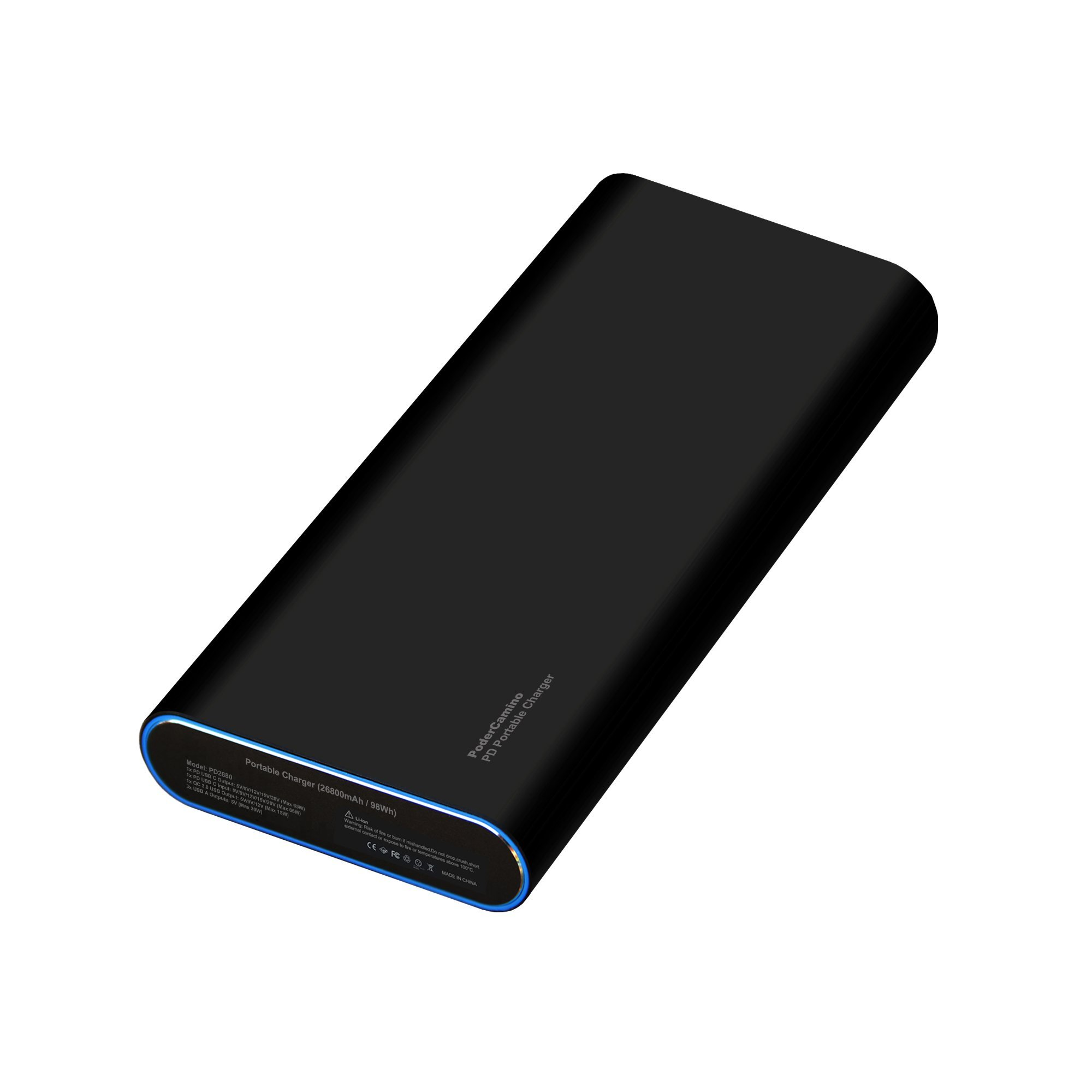 PoderCamino 98Wh PD Portable Charger USB-C Power Bank External Battery for New MacBook Pro 13 15 Surface Book 2 HP Spectre Elite Dell XPS Latitude Razer Lenovo Asus Acer LG USB C Type C laptop tablet by PoderCamino (Image #9)