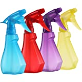 Pack of 4-8 Oz Empty Plastic Spray Bottles - Spray Bottles for Cleaning Solutions -Attractive Vibrant Colors - Multi Purpose Use Durable BPA Free Material