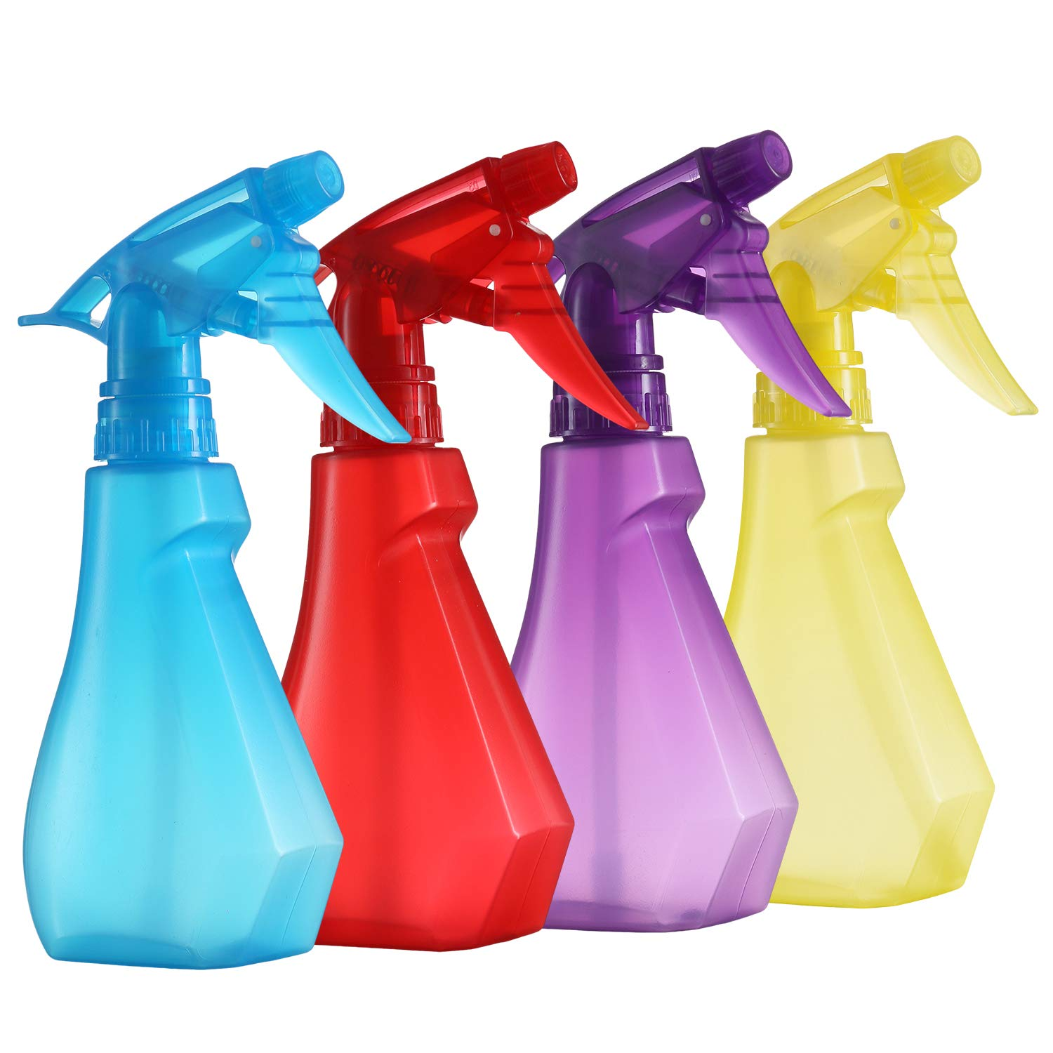 Pack of 4-8 Oz Empty Plastic Spray Bottles - Attractive Vibrant Colors - Multi Purpose Use Durable BPA Free Material by DilaBee