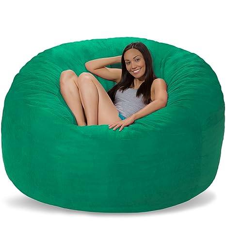 Brilliant Comfy Sacks 6 Ft Memory Foam Bean Bag Chair Aqua Marine Micro Suede Alphanode Cool Chair Designs And Ideas Alphanodeonline