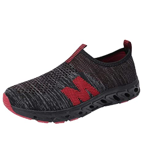 af4e796a7 Sunshinehomely Men Outdoor Mesh Shoes Casual Slip-On Sneakers Comfortable Sports  Running Mountaineering Shoes (