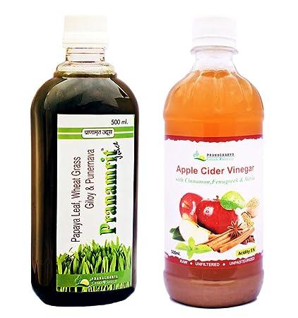 Buy Pranacharya Apple Cider Vinegar (with Stevia, Cinnamon
