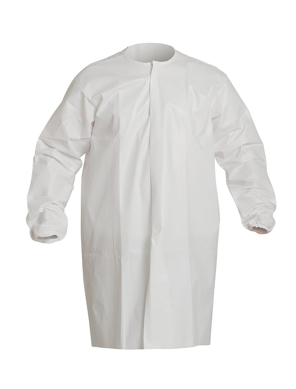 デュポンSafespecホワイトLarge IsoClean Cleanroom Frock – Fits 25個付きで3 / 4 – 40 3 / 4 in長 – pc270swhlg00300b [各あたり価格は]  B00KGRC9DI