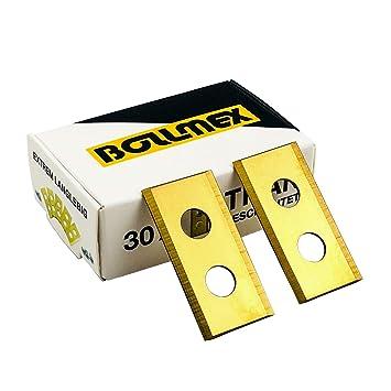 30 Bollmex Cuchillas de titanio 1 mm con 30 tornillos ...
