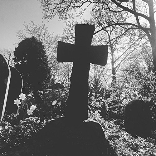 Home Comforts Peel-n-Stick Poster of Cemetery Religion Crucifix Graveyard Halloween Poster 24x16 Adhesive Sticker Poster Print]()