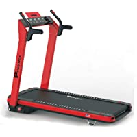 Powermax Fitness Unisex Adult UrbanTrek TD-A3 (2.5HP) Plug And Run Motorized Treadmill With Android and IOS App - Red, Medium