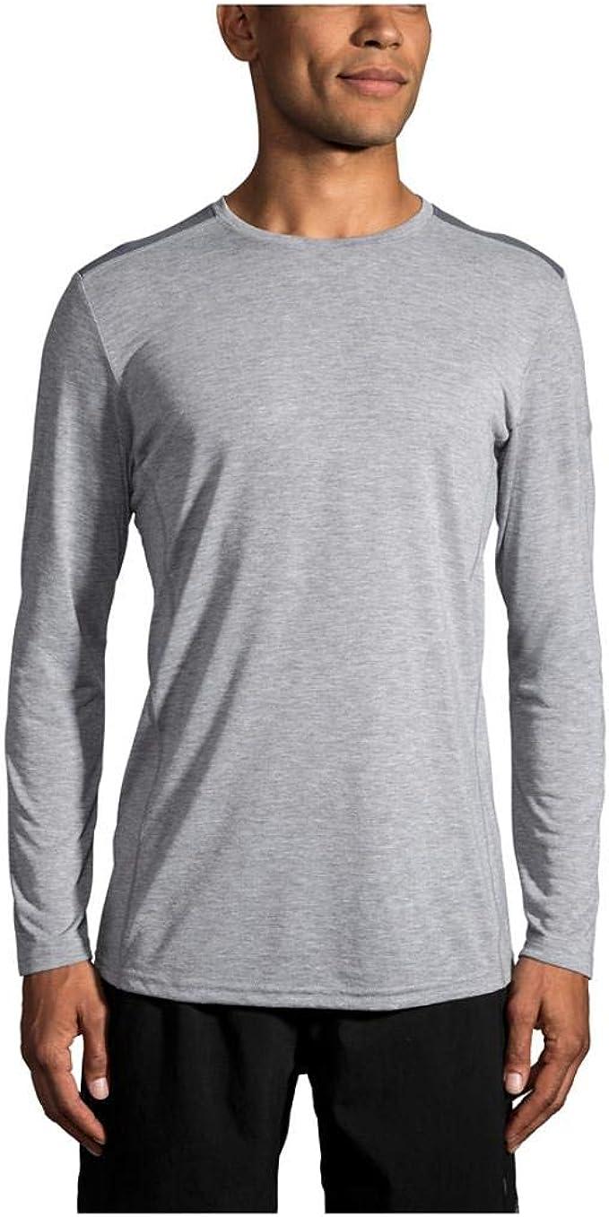 Brooks Mens Distance Running T Shirt Tee Top Black Sports Breathable Lightweight