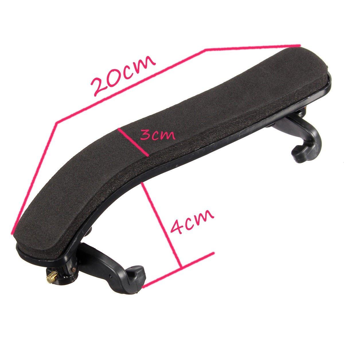 Esound Support D/épaule Ajustable en Plastique Noir 1//2 pour Violon