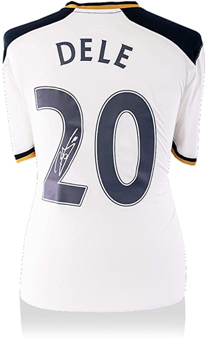 reputable site c2b24 c0ace Dele Alli Tottenham Hotspur Autographed 2016-2017 White Nike ...