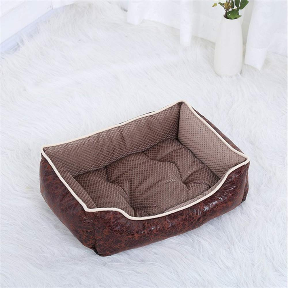 Coffee M Coffee M Pet Dog Bed Puppy Cats Basket Husky golden Retriever Labrador Cushion Mat Detachable and Washable