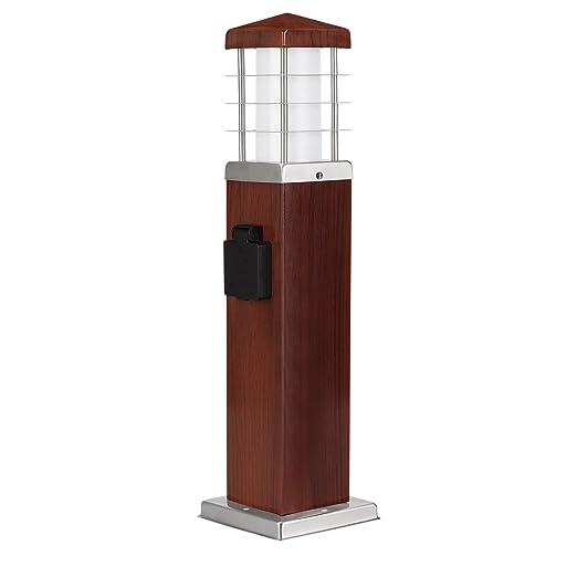 Juego de 4 Lámpara de pie Lámpara aspecto de madera redondo ...