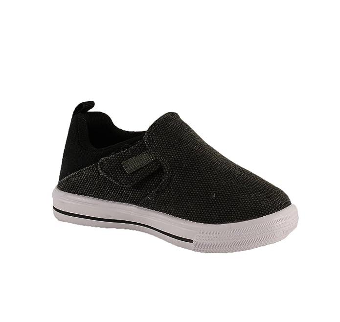 Dream Seek Boys Casual Slip-On Strap Fashion Sneaker