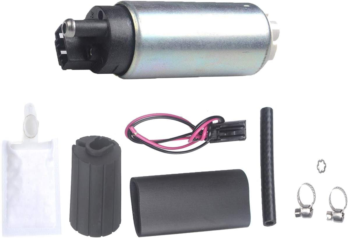 LQQDP New 1pc Genuine 255 LPH High Flow OE Upgrade Performance Electric Gas Intank EFI Fuel Pump With Installation Kit Compatible with GSS341