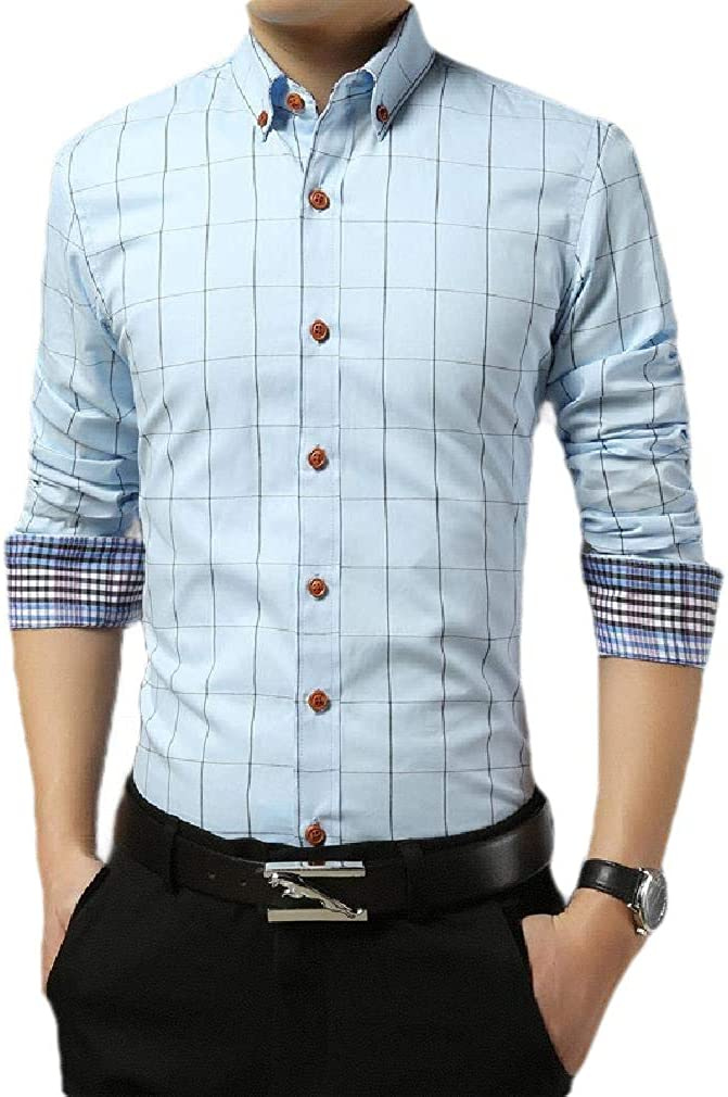 CBTLVSN Mens Summer Striped Print Half Sleeve Casual Button Down Shirt Tops