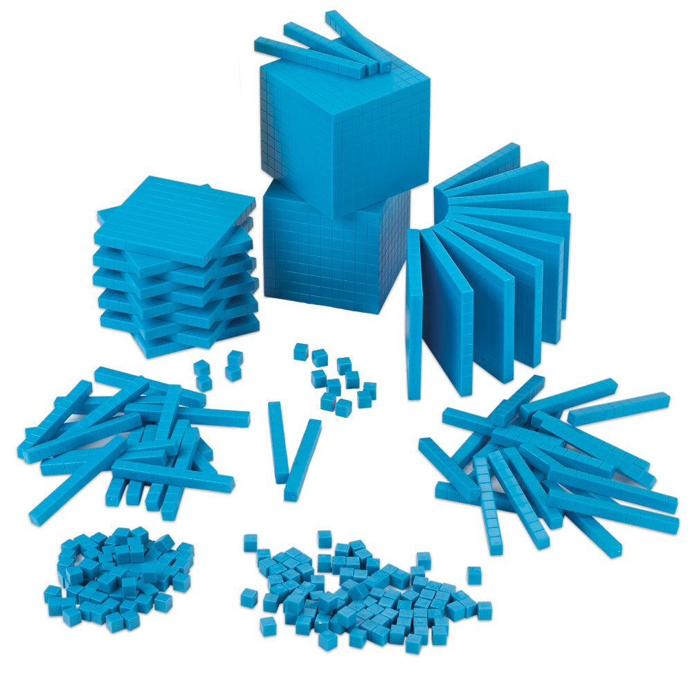 EAI Education Base Ten Intermediate Classroom Set: Blue Plastic - Blocks Only by EAI Education
