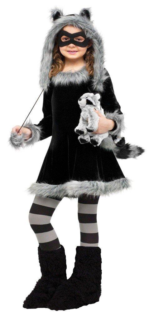 ccf8d62a06f51f Süßes Mädchen Mädchen Mädchen Kostüm Waschbär Fuzzy Fell Plüsch  Kinderkostüm