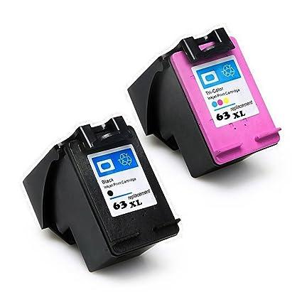 Eston 2 unidades # 63 XL negro Cartucho de tinta de color para HP ...
