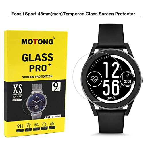 Amazon.com: MOTONG for Fossil Sport 43mm Screen Protector ...