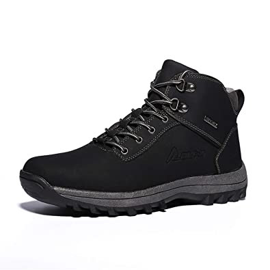   PULUSI High Top Men Waterproof Winter Leather
