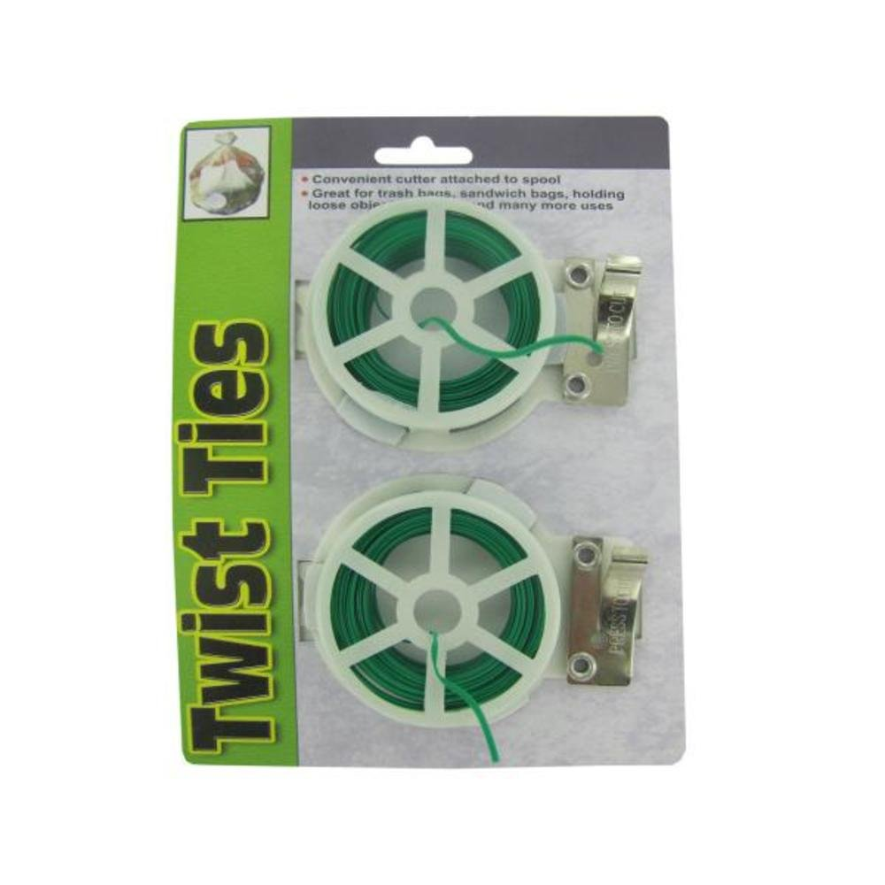 Twist tie spools with cutter - Pack of 96