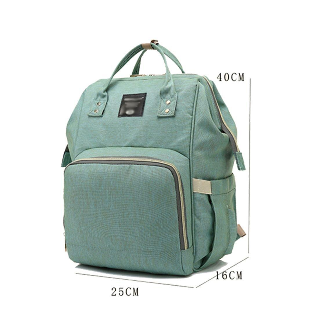 TOOGOO Verde claro bolsa de mama de moda Mochila de viaje impermeable de gran capacidad multifuncion Bolsas de panales portatiles Bolsas de botella durable de moda Bolsas de panales