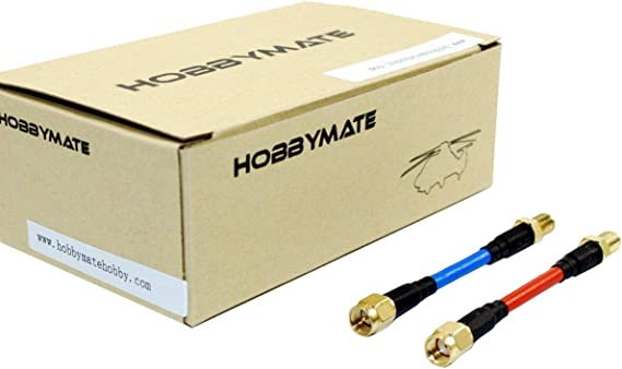 HOBBYMATE 5.8G FPV Antenna Extension Conversion Cable for Transmitter Receiver FPV Goggle - Pack of 2