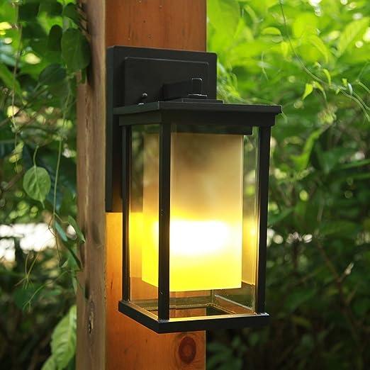 Lil Lámpara de Pared al Aire Libre Europea Simple Moderno Jardín Exterior Luz de Pared Impermeable Balcón Pasillo Pasillo Iluminación (Tamaño : M 20 * 17 * 35cm): Amazon.es: Hogar