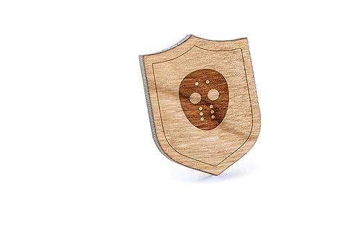 Amazon.com: Hockey Goalie Lapel Pin, Pin de madera: Jewelry